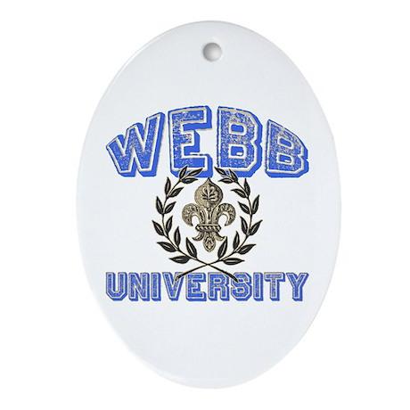 Webb Last Name University Oval Ornament