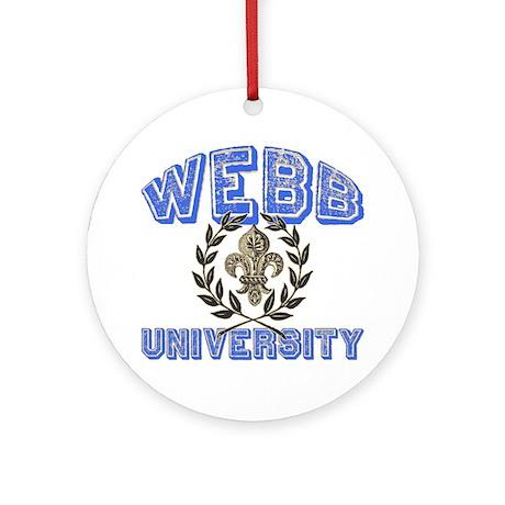 Webb Last Name University Ornament (Round)