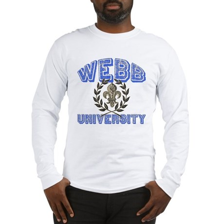 Webb Last Name University Long Sleeve T-Shirt