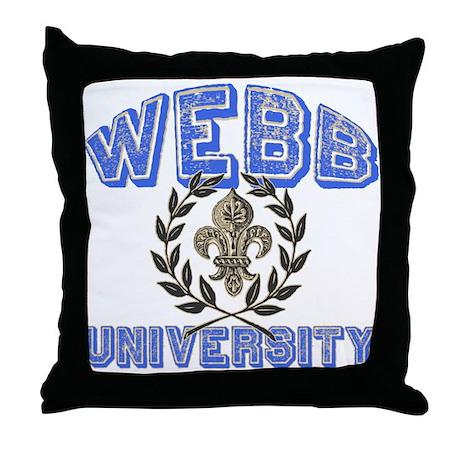 Webb Last Name University Throw Pillow
