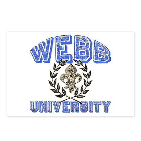 Webb Last Name University Postcards (Package of 8)
