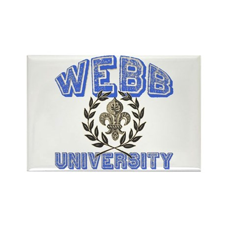 Webb Last Name University Rectangle Magnet (100 pa
