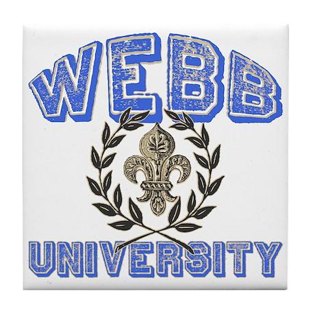 Webb Last Name University Tile Coaster