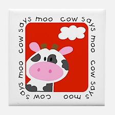 Cow Says Moo Tile Coaster