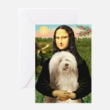 Mona / Bearded Collie #16 Greeting Card
