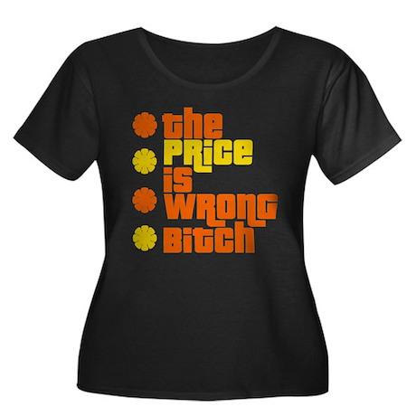 Price is Wrong Women's Plus Size Scoop Neck Dark T