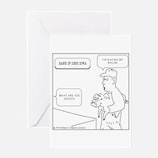 Cute Piggy bank Greeting Card