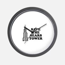 Save The Sears Tower Wall Clock