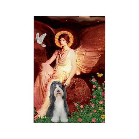 Angel / Beardie #6 Rectangle Magnet
