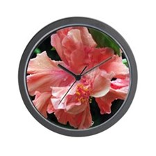 Pink Hibiscus from the island Wall Clock