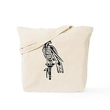 Falcon on Block Tote Bag