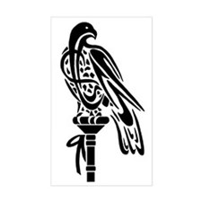 Falcon on Block Rectangle Decal