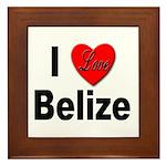 I Love Belize Framed Tile