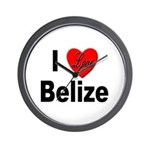 I Love Belize Wall Clock