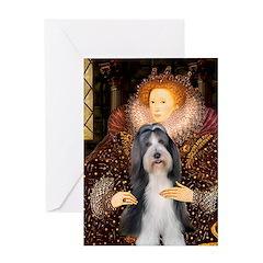 Queen / Beardie #6 Greeting Card