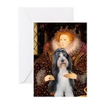 Queen / Beardie #6 Greeting Cards (Pk of 10)