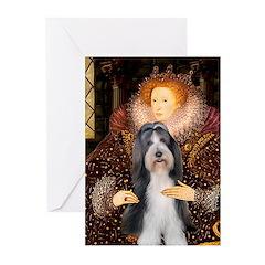 Queen / Beardie #6 Greeting Cards (Pk of 20)