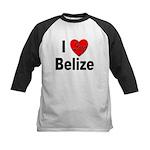 I Love Belize Kids Baseball Jersey