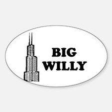 Big Willy Oval Decal