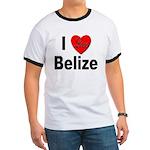 I Love Belize Ringer T