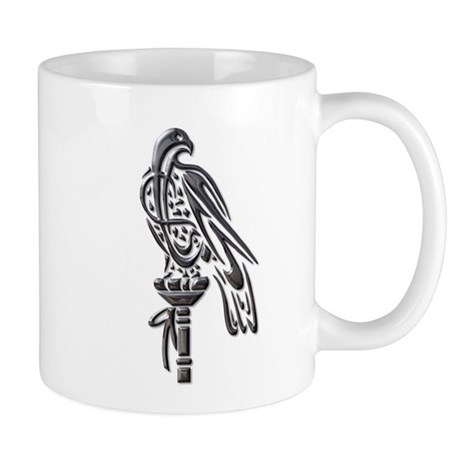 Falcon on Block-blk chrome Mug