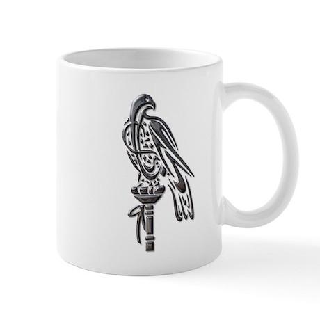Falcon on Block-blk chrome Mug