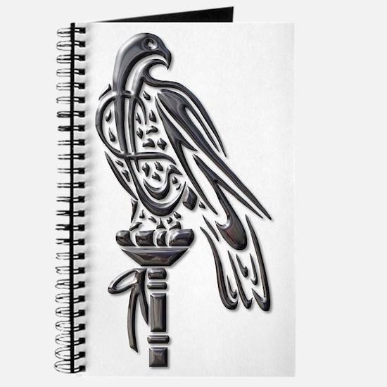 Falcon on Block-blk chrome Journal
