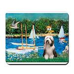 Sailboats / Beardie #1 Mousepad
