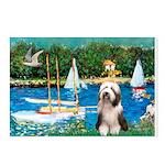 Sailboats / Beardie #1 Postcards (Package of 8)