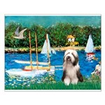 Sailboats / Beardie #1 Small Poster