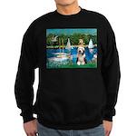 Sailboats / Beardie #1 Sweatshirt (dark)