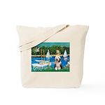 Sailboats / Beardie #1 Tote Bag