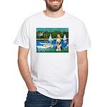 Sailboats / Beardie #1 White T-Shirt
