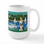Sailboats / Beardie #1 Large Mug