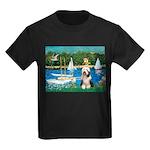 Sailboats / Beardie #1 Kids Dark T-Shirt