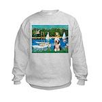 Sailboats / Beardie #1 Kids Sweatshirt