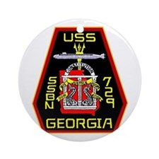 USS Georgia SSBN 729 Ornament (Round)