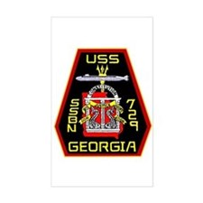 USS Georgia SSBN 729 Rectangle Decal