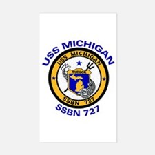 SSBN 727 USS Michigan Rectangle Decal