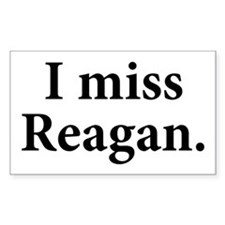 I Miss Reagan Rectangle Decal