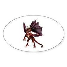 Brown Dragon Oval Decal