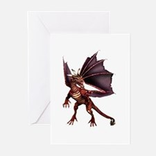 Brown Dragon Greeting Cards (Pk of 10)