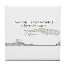 Cute Carcinogen Tile Coaster