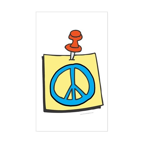 Remember Peace Rectangle Sticker