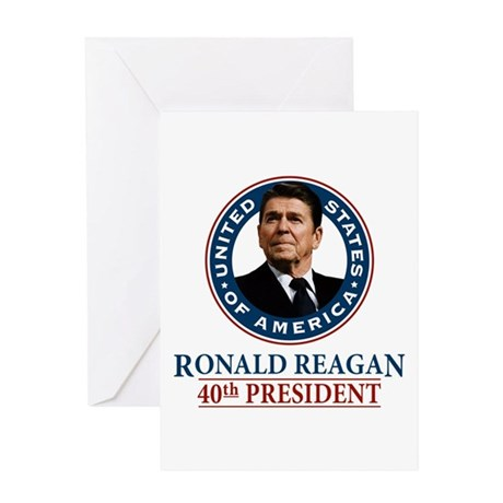 Ronald Reagan Note Card (blank inside)
