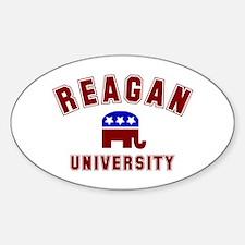 Reagan University Oval Decal