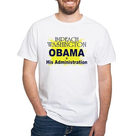 Impeach Washington White T-Shirt