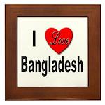 I Love Bangladesh Framed Tile