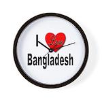 I Love Bangladesh Wall Clock