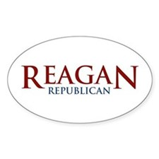 Reagan Republican Oval Decal